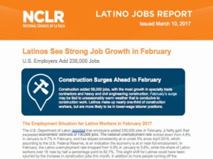 February Yields Strong Growth for Latino Workers